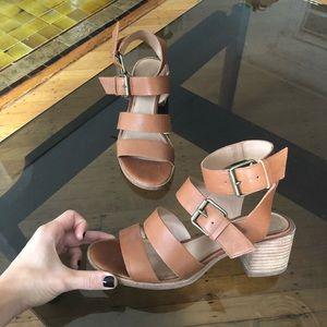 Madewell block heel leather sandals